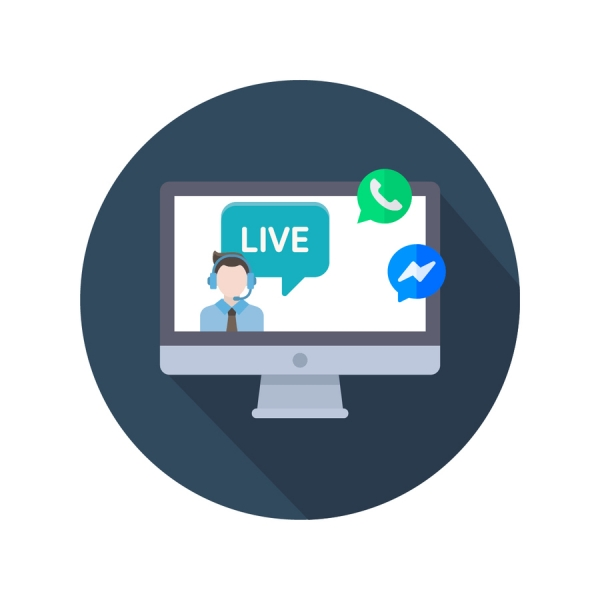 Live Chat Facebook Messenger e WhatsApp